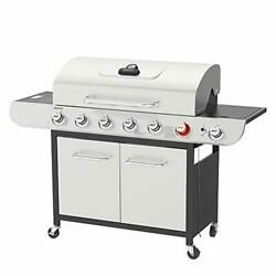 Royal Gourmet Us-sg6002r 6 Bbq Liquid Propane Grill With Sear And Side Burners