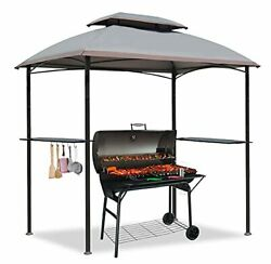 Coastshade 6and039x9and039 Arc Grill Gazebo Double Tiered Outdoor Bbq Gazebo Canopy Grill