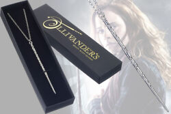 Harry Potter Hermione Wand Silver Plated Necklace - Series Wand Magic