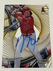 M. Trout Limited To 50 Sheets Autograph Card Auto 2016 Topps High Tek Gold
