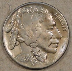 1927-s Buffalo Nickel Unc. Details Altered Surfaces Tough Coin With A Nice Look