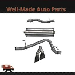 Corsa 304 Ss Cat-back Exhaust System Dual Side Exit For 15-20 Chevy/gmc 14748blk