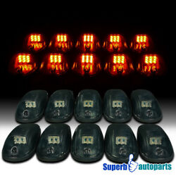 10 Pcs Smoke Led Cab Roof Top Lights Running Lamps Suv Truck