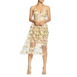 Dress The Population Womens Betsy Floral V-neck Party Cocktail Dress Bhfo 8155