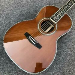 Solid Cedar Top 00045 Model Red Pine All Real Abalone Acoustic Electric Guitar