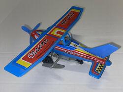 For Repair Vintage Toy Key-wind Airplane Plane Cessna Hr-453 Tin Litho Plastic