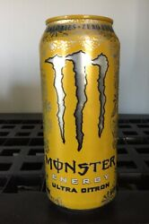 Monster Energy Ultra Citron Drink Discontinued Full Unopened Can 16oz New