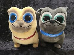 Authentic Disney Store Puppy Dog Pals Plush Pugs Bingo And Rolly 11. Excellent