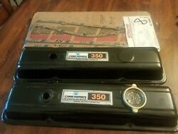 Vintage Gm Motor Valve Covers Chevrolet Gm Goodwrench 350 + Vs 12869 Cover