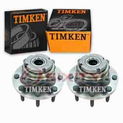 2 Pc Timken Front Wheel Bearing Hub Assembly For 1999-2001 Ford F-250 Super Cd