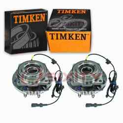2 Pc Timken Front Wheel Bearing Hub Assembly For 2005-2010 Ford F-250 Super Ap