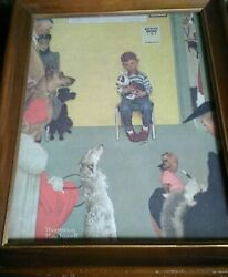 Waiting For The Vetalso At The Vet'snorman Rockwell - Framed