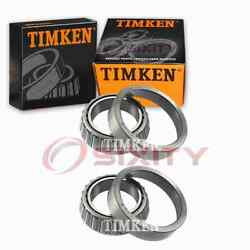 2 Pc Timken Rear Differential Bearing Sets For 1982-1986 Chevrolet P20 Cl