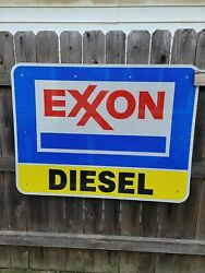 Exxon Reflective Interstate Highway Sign 48 X 36 Highway Exit Sign