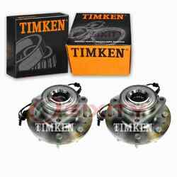 2 Pc Timken Front Wheel Bearing Hub Assembly For 2012 Ram 1500 Driveline Zy