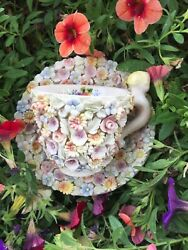 Capodimonte Cup And Saucer-signed Ardalt Dresden - Nove Italy