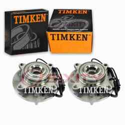 2 Pc Timken Front Wheel Bearing Hub Assembly For 2011-2014 Ford F-150 Vb