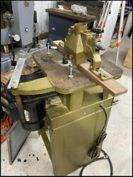 Powermatic 23 Shaper With Guide And Shaper Bits Nice Set Up