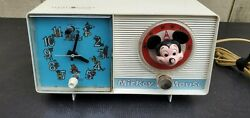 Vintage Mickey Mouse General Electric Youth Clock And Radio 1960's.