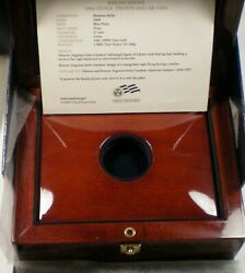 2009 Us Ultra High Relief Double Eagle - Mahogany Wood Box With Book - No Coins