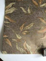 Double Roll-wallpaper York Antonina Vella - Gold - Copper - Leaves Muted Sheen