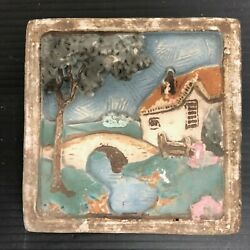 Claycraft Scenic Tile English Cottage By River