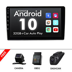 Cam+obd+dvr+single Din 10.1 Touch Screen Android 10 Car Stereo Radio Gps Wifi