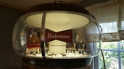 Vintage Working Budweiser Beer World Champion Clydesdale Team Carousel Light