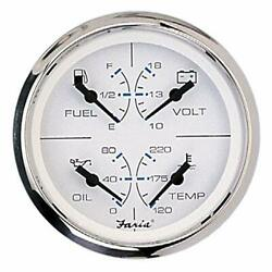 Faria 33851 Chesapeake Stainless Steel Multifunction Fuel Level/oil Psi 80 Ps...
