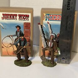 Marx Johnny West Custom 1/24 Scale Miniatures Chief Cherokee Hand Painted Resin