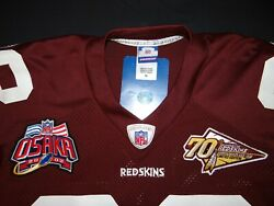 Authentic 2002 Washington Redskins Throwback D. Green Jersey Osaka 70th Patch