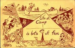 Vintage Girl Scout Camp Unused With Postage Stamp Postcard Pc 339
