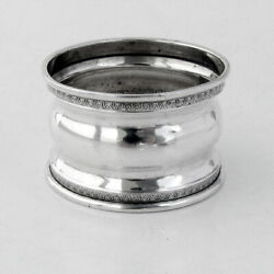 Napkin Ring Embossed Rims Webster Sterling Silver No Mono