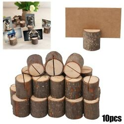 10x Wooden Base Table Card Holders Number Photo Stand For Wedding Party Decor
