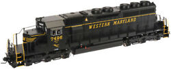 Atlas 3524-2 Sd40 Western Maryland 7496 Dcc Sound Scale Or