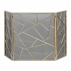 Uttermost 20072 Silver Armino 51w Decorative Fire Screen By Jim Parsons