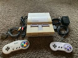 Super Nintendo Entertainment System Snes Console Sns-001 - Tested And Works