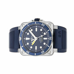 Bell And Ross Br-03 Diver Blue Auto Steel 42mm Mens Watch Br0392-d-bu-st/srb