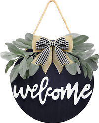 Welcome Sign For Front Door Round Wood Welcome Sign For Farmhouse Welcome