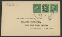 1917 Us Cover Rare Postally Used Non-approved War Stamp Overprint 481