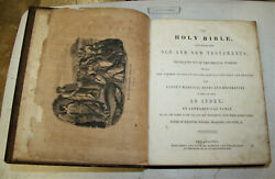 C1850 Large Antique Family Holy Bible