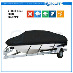 Boat Cover Fits 20and039-22and039ft V-hull Runabout V-hull Pro-style Bass Boat 100 Beam