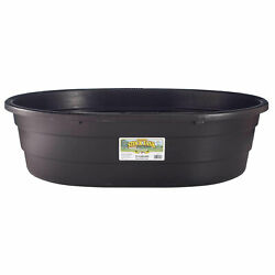 Little Giant 15 Gal Molded Poly Plastic Oval Stock Water Tank Trough Used