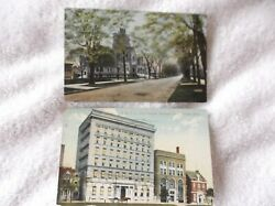 Toledoohio-2 1910 Color Postcards-collingswood Ave/presby Church -ymca Andelks