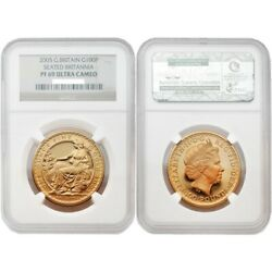 Great Britain 2005 Seated Britannia 100 Pounds 1 Oz Gold Ngc Pf69 Sku 1737