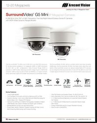 Qty.4 - Arecont Vision 20 Megapixel Day/night Id/ Od Dome Ip Camera, 6mm Lens.