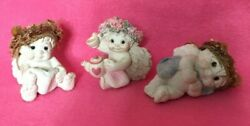 Dreamsicles High Tea, I Can Read, Angel Figurines Lot Of 3