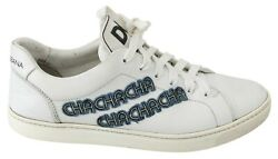 Dolce And Gabbana Shoes Sneakers White Leather Logo Print Mens S. Eu43 / Us10