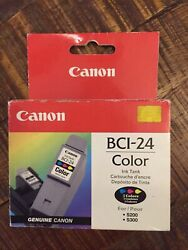 Canon Bci-24 Ink Cartridge Color Genuine New Sealed Box-a