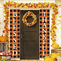 Front Door Banners Fall Porch Signs And Decorations Outdoor Farmhouse Clearance